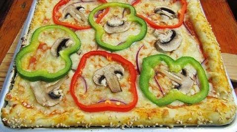 Pizza Vegetariana horneada en solo 10 minutos! #RecetasParaDummies