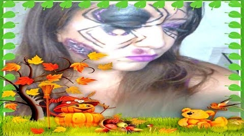 #HALLOWEEN SPIDER GIRL MAKEUP/COLABORACION #HalloweenHitsbook