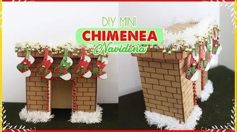 DIY MINI chimenea navideña // hecha con carton // Fireplace #TutorialesNavideños