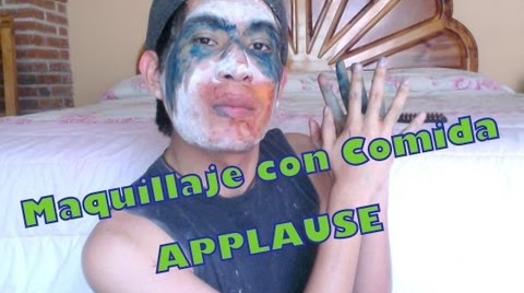 Reto Maquillaje con Comida Applause (Challenge Makeup Food Applause)