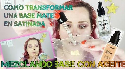 TRANSFORMA TU BASE DE ACABADO MATE EN SATINADA • ¿COMO FUNCIONA ÉSTA...? | MAQUILLAJE A LA MEXICANA ##FashionTip