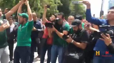 Festejando el triunfo