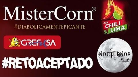 NocturnosVlogs - RETO Grefusa - #DIABOLICAMENTEPICANTE MisterCorns