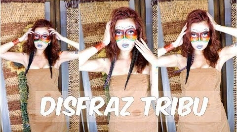 DIY Maquillaje para rostro + Disfraz Tribu #HalloweenHitsbook
