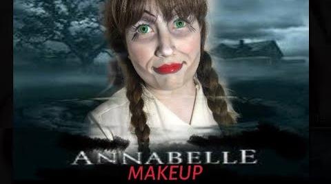 ANNABELLE MAKEUP TUTORIAL / MAQUILLAJE ANNABELLE HALLOWEEN #HalloweenHitsbook