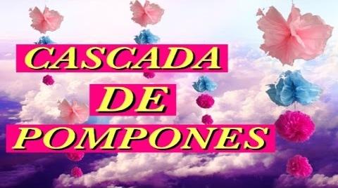 CASCADA DE POMPONES DIY