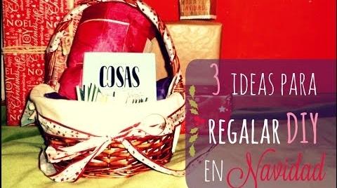 Manualidades: 3 ideas DIY para regalar en Navidad #TutorialesNavideños