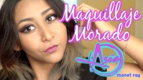 Maquillaje Cut Crease Morado Inspirado en Asia Monet Ray! // Makeup // MonCruzPinto