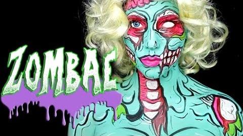 Pop Art Zombie, Maquillaje Halloween | AleEzquerro #HalloweenHitsbook