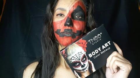 Maquillaje para Halloween fácil calabaza/ LILA _MARMOLEJO