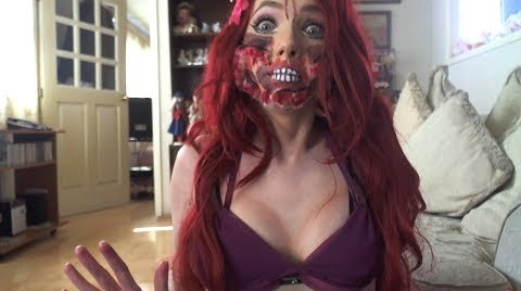 ZOMBIE ARIEL MAKEUP TUTORIAL #HalloweenHitsbook