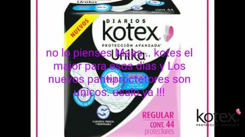Kotex única nuevos pantiprotectores antibacterial #HablemosDeSaludVaginal