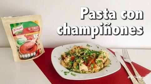 Receta Pasta con Champiñones #YoCociKnorr