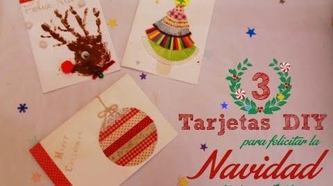 Manualidades: 3 formas de crear Tarjetas de Navidad DIY #TutorialesNavideños
