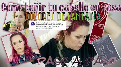 COMO TEÑIR TU CABELLO CON COLORES DE FANTASIA FACIL EN CASA • PASO A PASO | MAQUILLAJE A LA MEXICANA ##FashionTip
