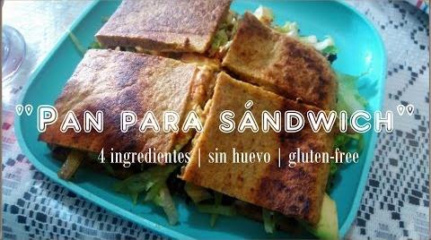 Pan de plátano para sándwich (vegano) #EstrellasDigitales2019