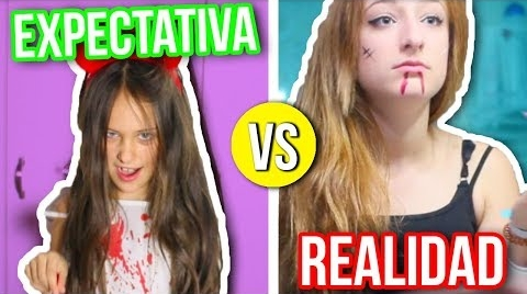EXPECTATIVA vs. REALIDAD HALLOWEEN!! | Yasmineta #HalloweenHitsbook