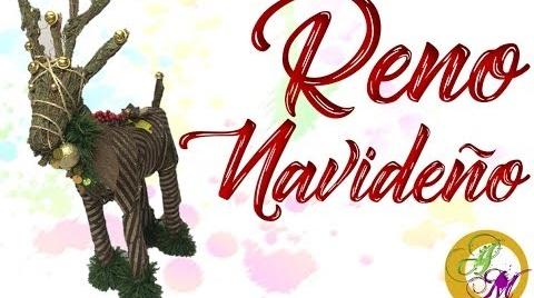 ♥ Adorno Navideño – Reno de Varas - DIY