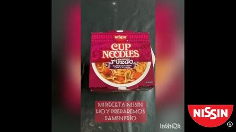 Ramen Frío Con Nissin Camarón Fuego Chile y Limón #nissinsos