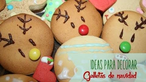 Recetas Infantiles:Ideas para decorar tus galletas de navidad #TutorialesNavideños