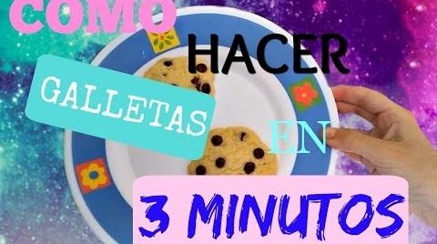 GALLETAS AL MICROONDAS EN 3 MINUTOS  || LULISWEET #RecetasParaDummies