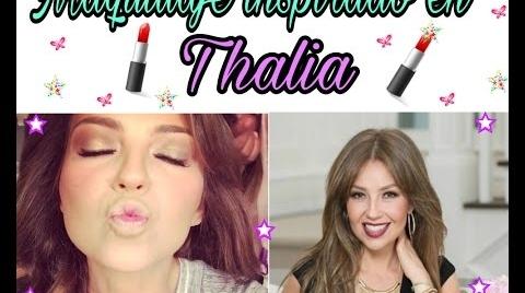 Maquillaje inspirado en Thalia
