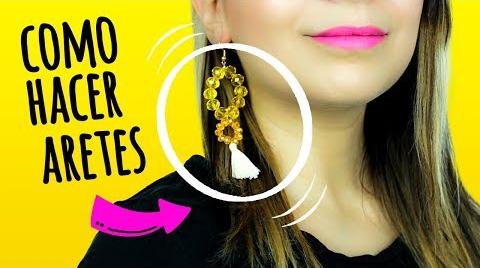 COMO HACER ARETES DE HILO / ARETES LARGOS DE MODA #EstrellasDigitales2019