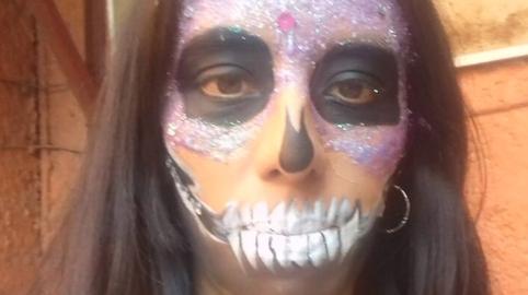 Maquillaje de Catrina 2 #HalloweenHitsbook