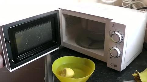 limpiar microondas con limón
