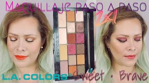 2 MAQUILLAJES PASO A PASO CON 1 PALETA ~ LA COLORS SWEET • BRAVE | MAQUILLAJE A LA MEXICANA ##FashionTip